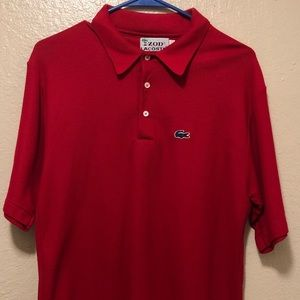 Izod Lacoste Men's Red Polo Shirt Large S/S
